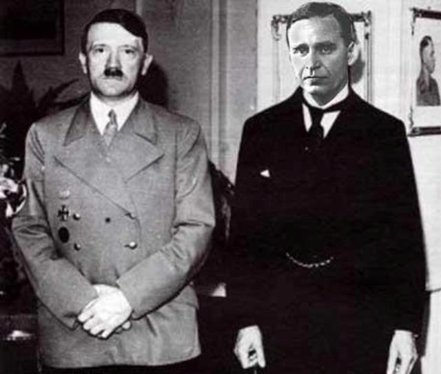 an analysis of the topic of the leadership of george bush in contrast to the adolf hitler